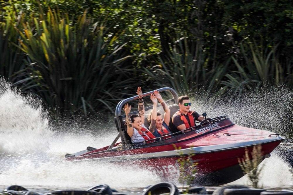 try a jet boat ride in Rotorua