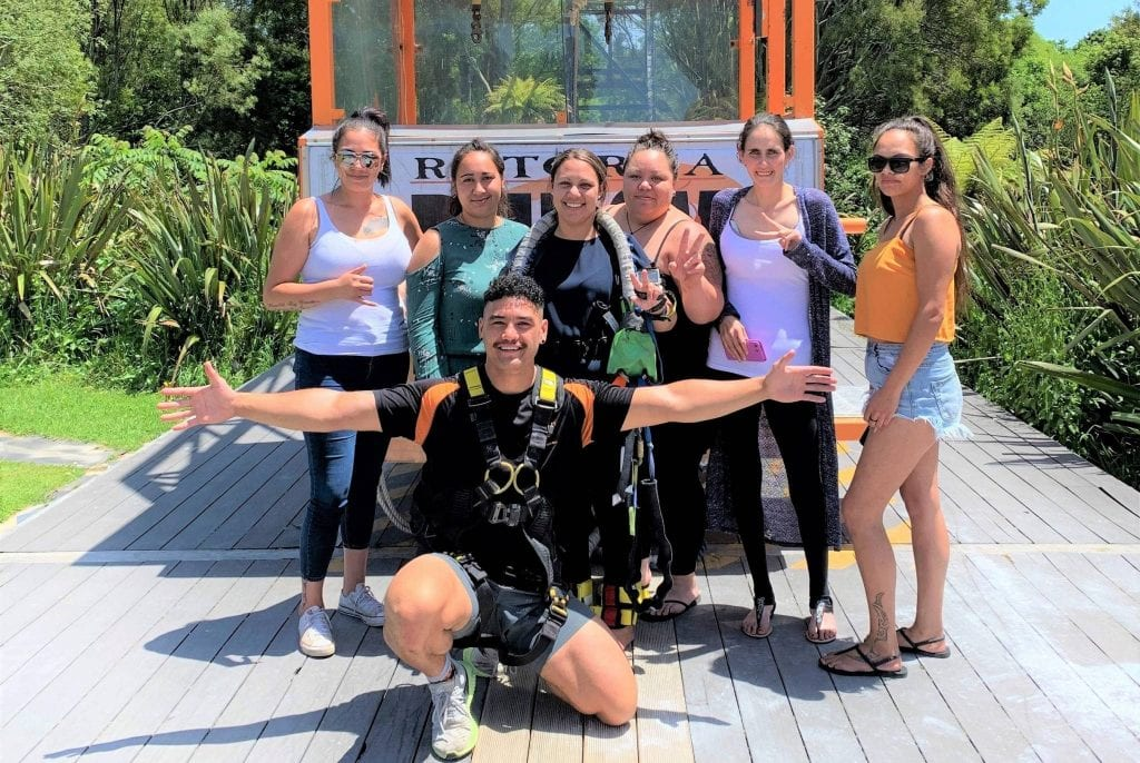 Hens party girls group Bungy Jump Rotorua