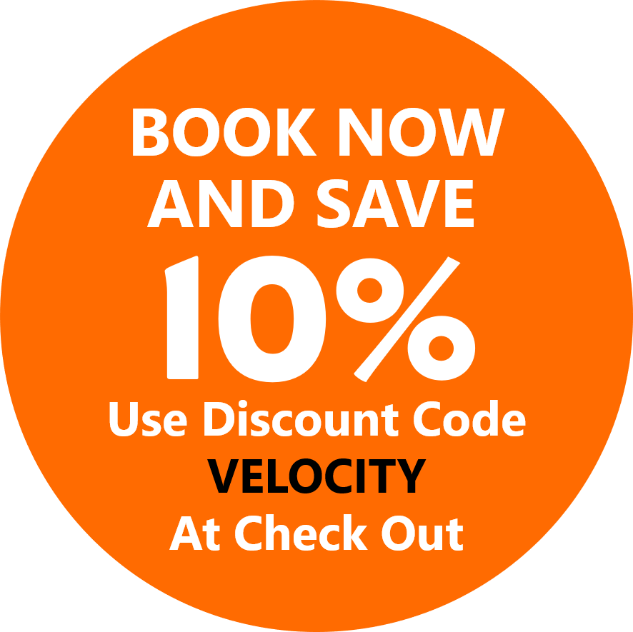 Velocity Valley Book Now and Save 10 Percent